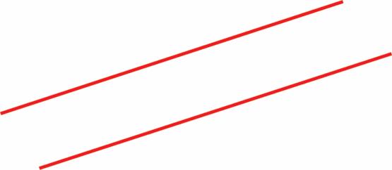 Dos rectas son paralelas si están en un mismo plano y no tienen
